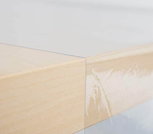 EHT Transparente Klarsichtfolie Tischfolie Folie in verschiedenen Größen rund eckig Meterware Tischdecke Uni 0,2mm