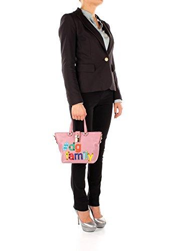 Borse a Mano Dolce&Gabbana patch dg family Donna - Pelle (BB6222AI150) Rosa
