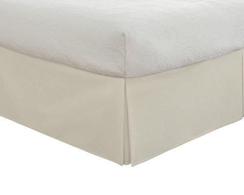 Fresh Ideas Tailored Poplin Bedskirt 14-Inch Drop Twin, Ivory by Fresh Ideas -