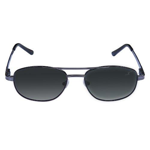 1043b6cf37 Xezo Hombres de piloto UV 400 negro clásico de titanio polarizadas gafas de  sol, cromado