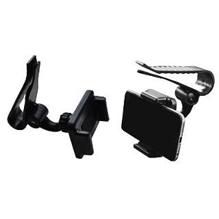 Lilware Universal Sunshield Board Clip Sonnenblende Halterung Autohalter für Handy / PDA / GPS / MP3-Player. Kompakte Größe Klemmmontage mit Einer Max. Öffnung von 85 mm und Einem 360-Grad-Rotationssystem. Schwarz