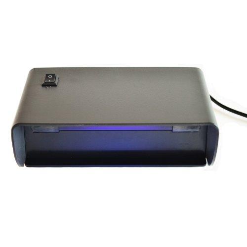 UV Lampe Standgerät 1 Schwarzlicht Röhre 365nm (220V) - für UV Stempelfarbe, UV Leuchtfarbe, Schwarzlichtfarbe, Geldprüfgerät, Banknoten, Briefmarken, Fluoreszenz (langwellig) bei Mineralien und Fossilien, Ausweise, Führerscheine, Passkontrolle, Dokumente mit UV Markierungen