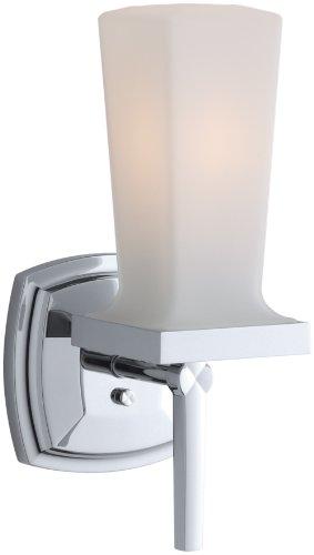 MARGAUX Single Light AP Wandleuchter, weiß Landhausstil poliertes chrom - Margaux Single