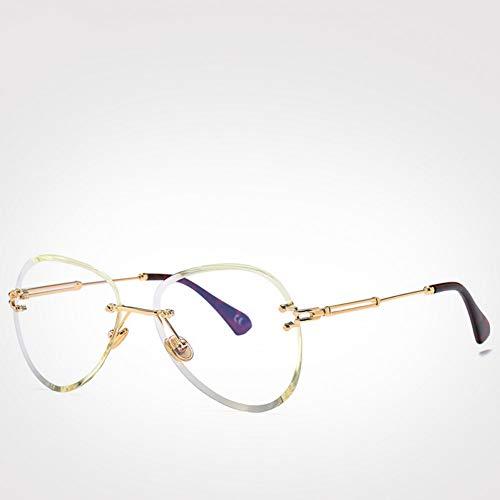 CCGKWW Mode Blau Rot Luftfahrt Sonnenbrille Frauen Männer Shades Uv400 Sonnenbrille Randlose Brille Für Zonnebril Dames -