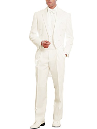 Suit Me uominis bianco 3 pezzi di laurea sfera Matrimoni Suit Giacche kummerbund Fly Pantaloni Bianco