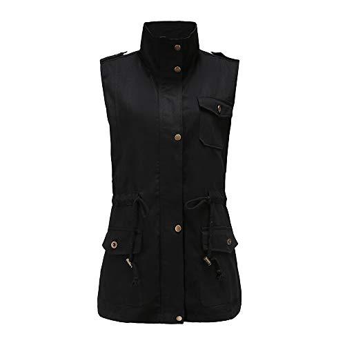 JURTEE Damen Mäntel,Übergröße Mode Ohne Arm Oberteile Dicker Outwear Jacke Outwear Oberbekleidung Übergang Herbst Winter Outdoorjacke S-2XL