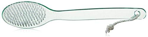 1 pinceau arrière Bain avec poils & Long manche en plastique (Vert menthe)
