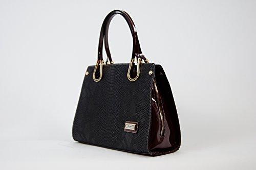 Tasche Abendtasche Damentasche Handtasche Luxus Taymir 2Jahre Garantie ver Farbe Schwarz-Bordeuax