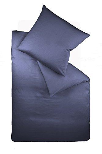 Galleria fotografica fleuresse, Colours Interlock, set di biancheria da letto, in jersey, Jersey, dunkelblau, 37.2 x 26.8 x 3.6 cm