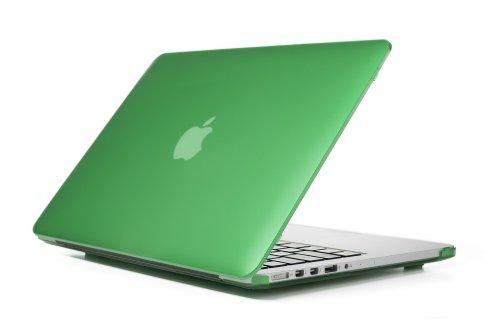 mCover hochwertigem Polycarbonat Hülle Schutzhülle Notebooktasche Hard - Shell - Case Tasche / Hartschale für Apple Macbbok Pro Retina 13 Zoll (Modell A1502 & A1425 ohne DVD) - Grün