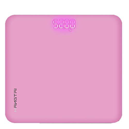 Waage Digitale Personenwaage Hochpräzise Waage Hide Screen Blue,Pink