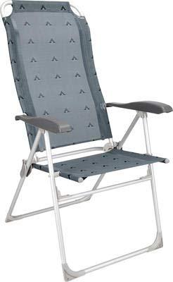 Berger Klappsessel Campingstuhl Comfort, grau, Aluminium, Rückenlehne 5-Fach verstellbar, superleicht und platzsparend