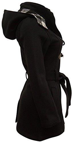 SS7 - Damen Übergröße Mantel Schwarz - Schwarz