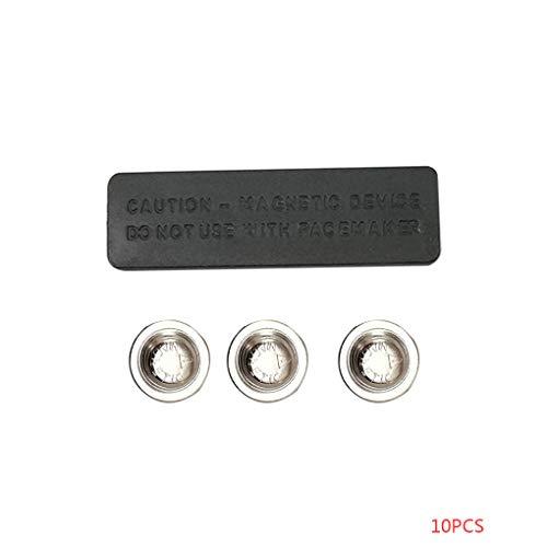 Bobury 10pcs 45x13MM Magnetische Namensschild für Beauty ID Badge Befestigung Namensschild-Halter-3 Magnete (Magnet Badge-halter)