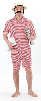 Fun World - 1920er Strand Adonis Gentleman Badender Mann - Erwachsene Kostüm - Herren: (Kostüme World Fun)