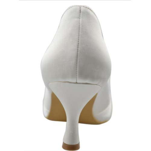 Minitoo , Peep-Toe femme Beige - ivoire