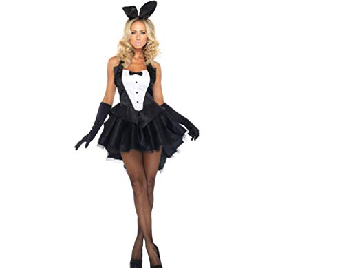 WFTD Sexy Bunny Kostüm Für Frauen Halloween-Party Kleid Cosplay Kostüm Weihnachten Halloween Kostüm Laterne Bühne Gekleidet Dress Up Kleid Kleid,M