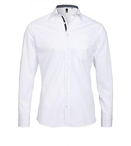 FASHION-fIT bügelfreies chemise à manches longues pour homme-différents coloris, marque pURE (3374 466) Weiß (90)