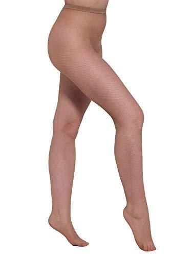 Essexee Legs 1 Par Talla Grande natural Rejilla Medias tamaños: L XL XXL XXXL. Figura rellenita natural medias de red - Natural, XXG