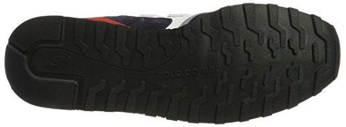New Balance Herren U446 Sneaker, Grau Weiß (White/navy)