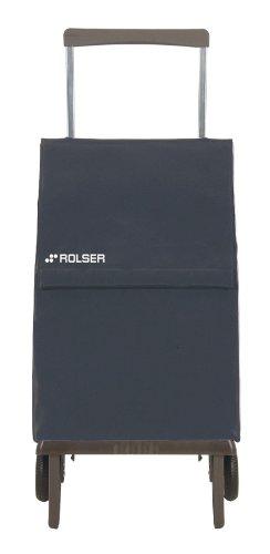 Rolser PLE047 Plegamatic - Carro de Compra (Bolsa Modelo Original/MF), Color Gris