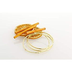 etrusca GIOIELLI - Set di 3 Bracciali Rigidi da donna in Bronzo Placcato Oro 18k con Cubic Zirconia