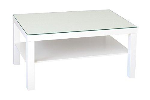Tischplatte Aus Glas (New Swedish Design Tischplatte 90 x 55 cm für IKEA Lack Tisch stabile Tischplatte Auflageplatte aus Sicherheitsglas (6 mm ESG-Glas) abwaschbar stabil Tischoberfläche schützend)