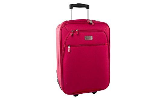 Maleta semirrígida PIERRE CARDIN rojo mini equipaje de mano ryanair S178