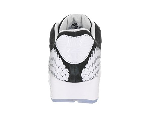 Nike Herren Air Max 90 Woven Laufschuhe Black (Schwarz / Schwarz-Weiß-Pure Platinum)