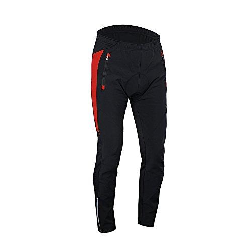 Lixada pantalon cycliste homme Outdoor Cycliste Sport d'Hiver Pantalons confortables et respirantes avec coussin rembourré