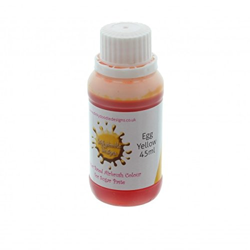 egg-yellow-water-based-airbrush-colour-for-sugar-paste-45ml-by-dinkydoodle