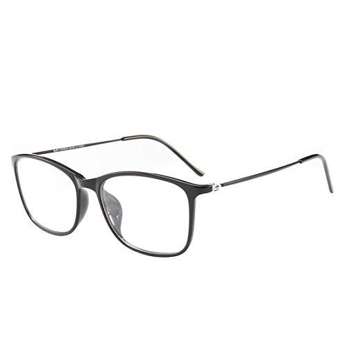 Shiduoli Brillengestell Männer und Frauen leichte Brillengestelle für Frauen Nicht verschreibungspflichtige Brillen Männer (Color : Black)