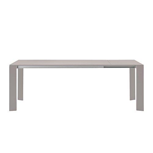 Weishäupl Grande Arche ausziehbarer Gartentisch, taupe L: 160-210 mit 1 Auszugsplatte ausgelegt für 2 Auszugsplatten
