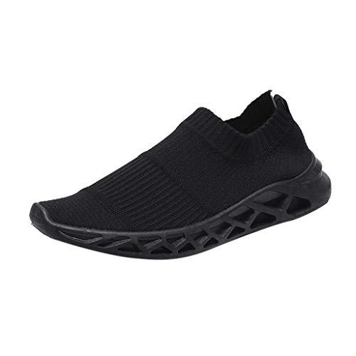 Frenchenal Mode Homme Chaussures De Course Décontractées Respirant, Confortables, Légères Baskets Basses pour Aider Les Chaussures De Course Creux Tissage Casual