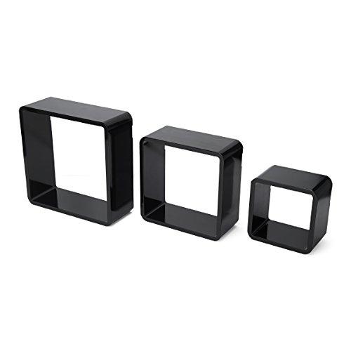 Studio Nova Hochglanz Cubes (Set von 3), schwarz Studio Nova Studio