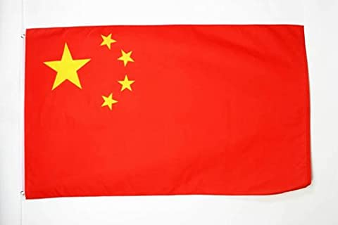 FLAGGE CHINA 150x90cm - CHINESISCHE FAHNE 90 x 150 cm feiner polyester - flaggen AZ FLAG
