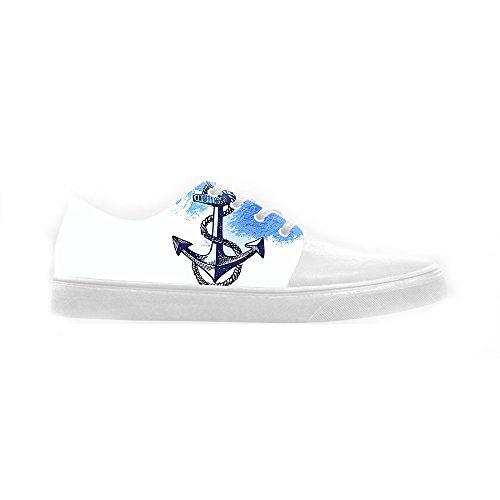 Dalliy Blue ocean Anchor Women's canvas Footwear Sneakers Shoes Chaussures de toile Baskets B