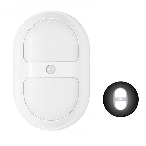 Dreamtop Bewegungsmelder Nachtlicht Wand Beleuchtung Lampe mit 10Led und Dual Sensor für Treppen Badezimmer