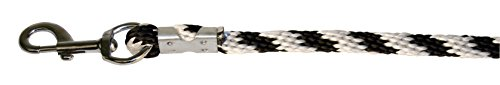 Kerbl Strick Führstrick Mustang Karabiner-Haken, Silber/Schwarz/Weiß, 321423