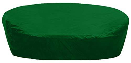 KaufPirat Premium Abdeckplane Rund Ø 215x85 cm Tannengrün Gartenmöbel Gartentisch Abdeckung Schutzhülle Abdeckhaube Outdoor Round Patio Table Cover -