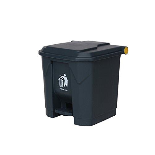 Trash bin.Cb AODISHA Outdoor Mülleimer, Hotel Große Haushalt Mülleimer Küche Überdachte Büro Kreative Schritte Kommerziellen Outdoor Mülleimer 30L - Umweltfreundlich (Farbe : Grau) (Küche Schritt Groß Mülleimer)