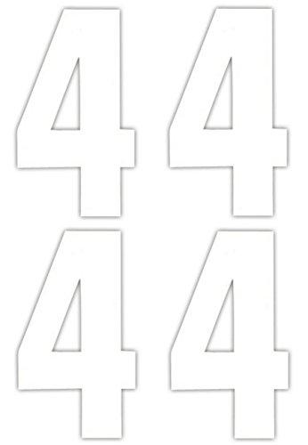 Numéro 4 x 4 Stickers pour poubelle à roulettes