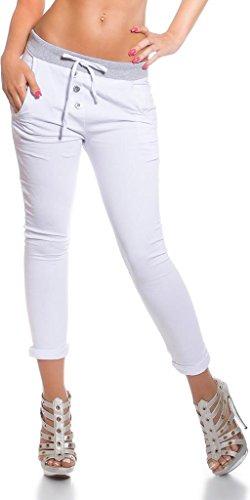 Trendy Sweat Hose mit Taschen Koucla by In-Stylefashion SKU 0000H926001 Weiß