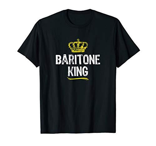 Baritone King Men Boys Player Funny Cool Gift T-Shirt