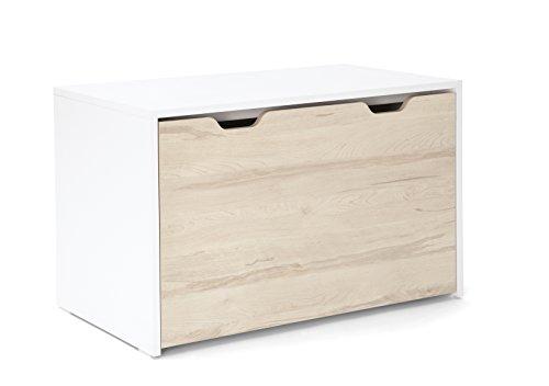 Mamas & Papas Lawson guardería caja de almacenamiento pecho de juguete natural, color blanco