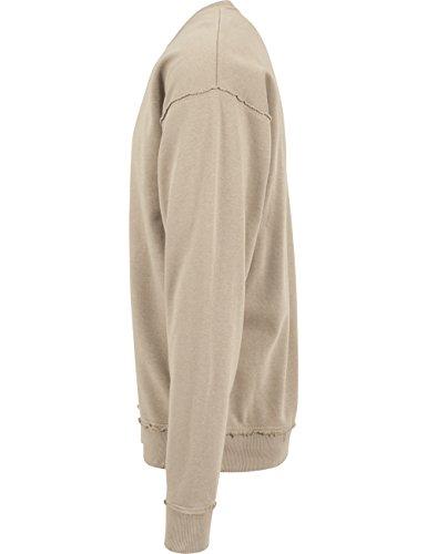 Urban Classics Homme Hauts / Pullover Oversized Open Edge Beige