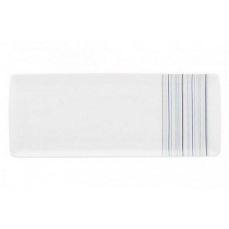DEGRENNE 227599 Plat Rectangulaire Porcelaine, Bleu, 41,6 x 17,3 x 3 cm