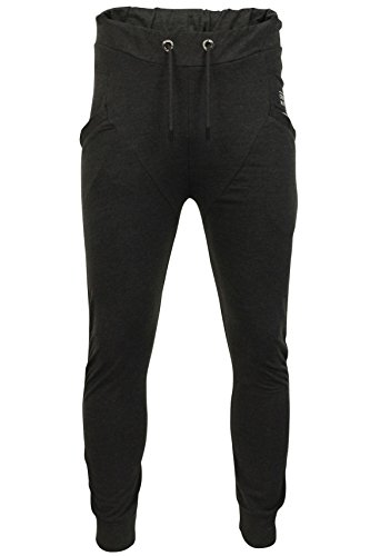 CrossHatch Herren Jogginghose Sidwell` (Charcoal Marl) XL