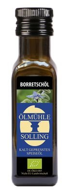 Bio Borretschöl, kaltgepresst, 0,1 l Flasche