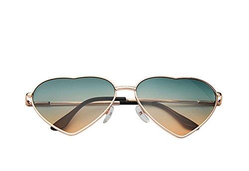 DaoRier Sonnenbrille Polarisiert UV-Schutz Mode Damen Herzform Grenze Rahmen Schutzbrillen Brillen Widerstehen der Sonne